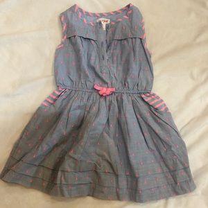 Light blue and pink 98% cotton dress